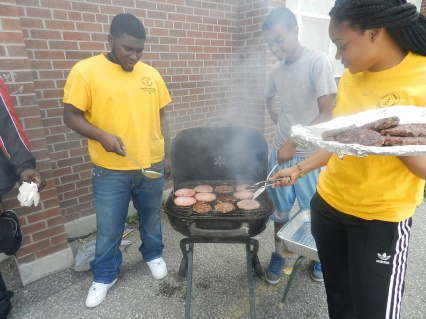 FOY staff preparing BBQ lunch