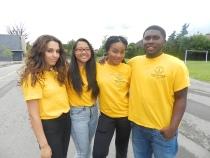FOY STAFF (left to right): Berta, Dennyse, Andrilla & Shemar