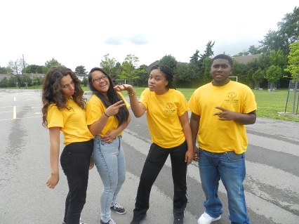 FOY STAFF (left to right): Berta, Dennyse, Andrilla & Shemar