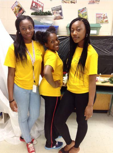 FOY Staff Left to right: Simbiat Idowu, Kendra Bennett and Roshanna Miller