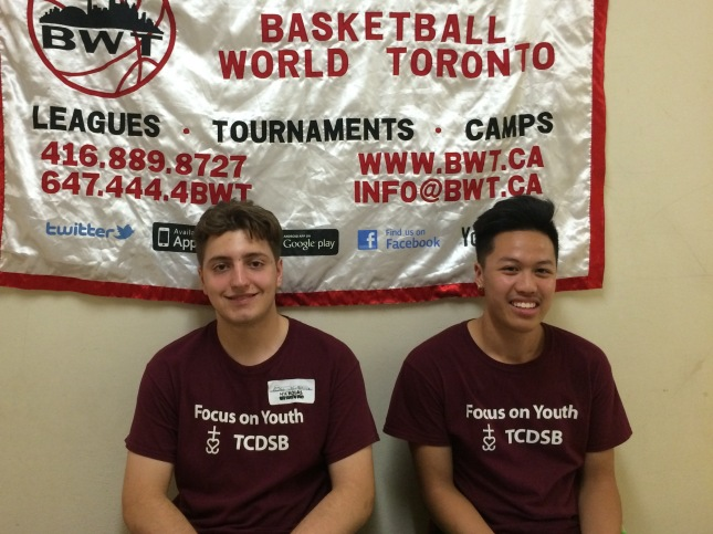 Focus on Youth Staff at BWT (left to right) Nicholas DeVuono and Anthony Nguyen