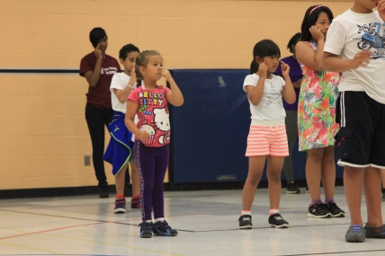 """Campers are playing """"Simon Says"""""""