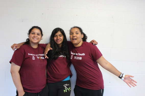 Focus On Youth Staff [left to right] Rachel Sega, Sharlene Wilfred and Gabriella Williams