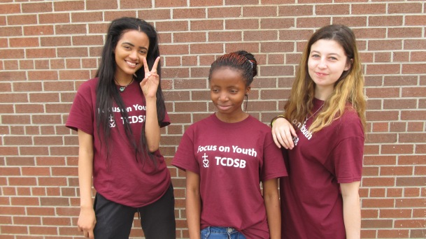 FOY staff from left to right; Julia, Kofiat, and Marrissa