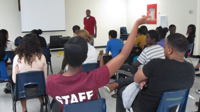 FOY staff participating during a lesson