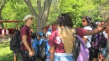 FOY staff Zachary giving instructions to the campers