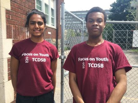 Focus On Youth staff: [From left to right] Tamara Mohanavathanan & Azali Charles