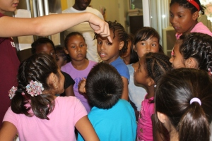Media Team member Sebastian showing magic tricks to the campers!