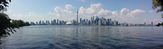 A beautiful view of the skyline of Toronto