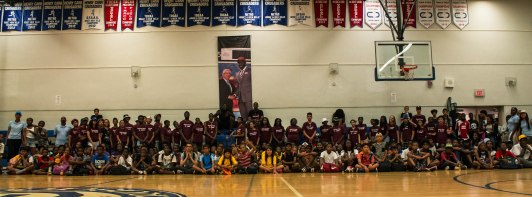 This showcases both Footsteps camps from Father Henry Carr and Blessed Mother Theresa, along side with NBA player Anthony Bennett