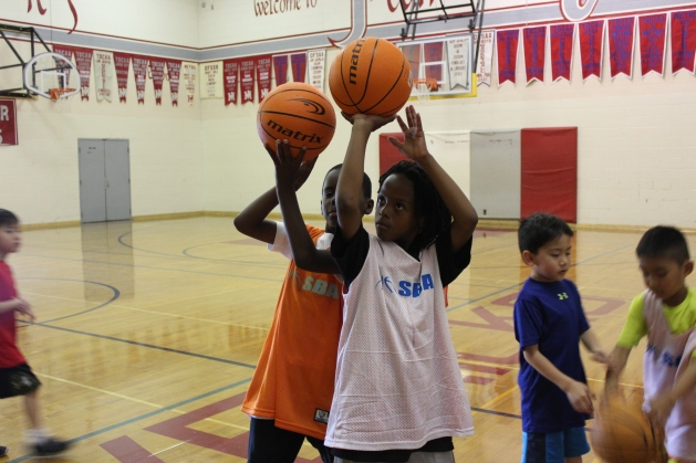 Campers filled with passion for basketball.