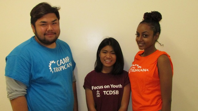 FOY staff (from left to right): Wren (Vanier) Melanie (BMT) Helen (BMT)