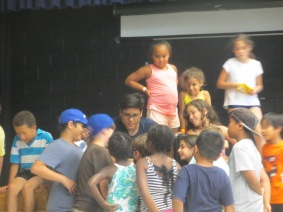 Staff, Nicholas, spending time with the kids