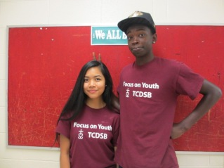 Focus on Youth staff (left to right) Joyce and Ryan
