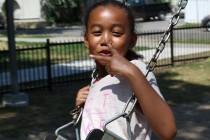 Enjoying the swings
