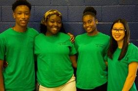 FOY Staff (Left to Right) : Dominic (BMT), Victoria (BMT), Renee (BMT), Brenda (Grad)