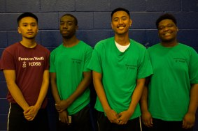 FOY Staff (Left to Right) : Ronald (Libermann), Kerohn (Grad), JC (Neil), Chad (BMT)