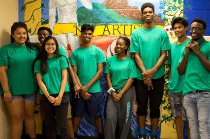 FOY Staff (Left to right) : Carissa (Grad), Jonathan (BMT), Diandra (McLuhan), Noah (BMT), Anisha (McLuhan), Jaelan (BMT), Greg (BMT), Isaiah (BMT)