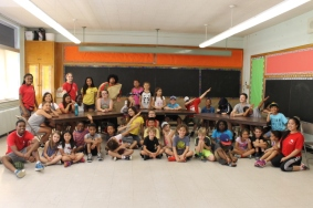 A group shot of the Boys and Girls Club of West Scarborough