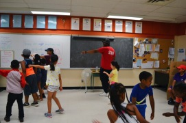 Dance lesson with one of the FOY staff.