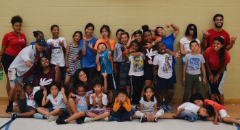 A group photo of all staff and camps from West Scarborough Boys & Girls Club.