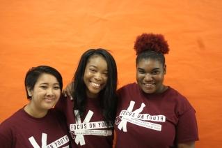 FOY Staff: Claire (Vanier), Rozanna (Vanier), and Jataschae (Vanier)